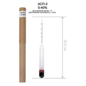 спиртомер асп-3 0-40%